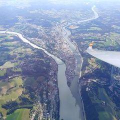 Flugwegposition um 14:27:21: Aufgenommen in der Nähe von Gemeinde Freinberg, Österreich in 1901 Meter