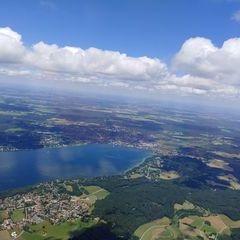Flugwegposition um 10:50:58: Aufgenommen in der Nähe von Starnberg, Deutschland in 1754 Meter