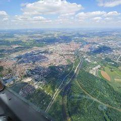 Verortung via Georeferenzierung der Kamera: Aufgenommen in der Nähe von Tübingen, Deutschland in 1500 Meter
