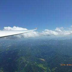 Flugwegposition um 12:16:53: Aufgenommen in der Nähe von Gemeinde Turnau, Österreich in 2116 Meter