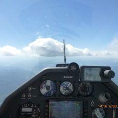 Flugwegposition um 12:16:38: Aufgenommen in der Nähe von Gemeinde Turnau, Österreich in 2166 Meter