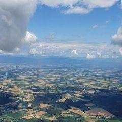 Flugwegposition um 10:16:36: Aufgenommen in der Nähe von Dingolfing-Landau, Deutschland in 1545 Meter