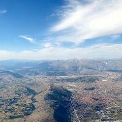 Flugwegposition um 13:15:00: Aufgenommen in der Nähe von 67053 Capistrello, L'Aquila, Italien in 2454 Meter