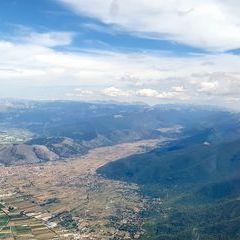 Flugwegposition um 13:15:17: Aufgenommen in der Nähe von 67053 Capistrello, L'Aquila, Italien in 2478 Meter