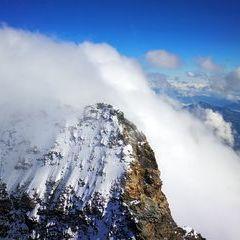 Verortung via Georeferenzierung der Kamera: Aufgenommen in der Nähe von Visp, Schweiz in 4500 Meter