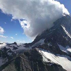 Verortung via Georeferenzierung der Kamera: Aufgenommen in der Nähe von Visp, Schweiz in 3400 Meter