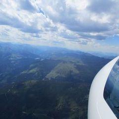 Flugwegposition um 13:14:23: Aufgenommen in der Nähe von Gemeinde Bramberg am Wildkogel, Österreich in 2927 Meter