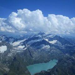 Flugwegposition um 14:11:59: Aufgenommen in der Nähe von Gemeinde Uttendorf, Österreich in 3552 Meter