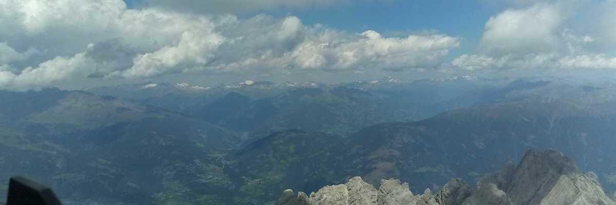 Flugwegposition um 12:26:37: Aufgenommen in der Nähe von Gemeinde Winklern, Österreich in 3149 Meter