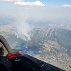 Flugwegposition um 15:45:58: Aufgenommen in der Nähe von 67010 Barete, L'Aquila, Italien in 2680 Meter