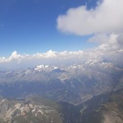 Flugwegposition um 13:42:35: Aufgenommen in der Nähe von Savoyen, Frankreich in 4336 Meter