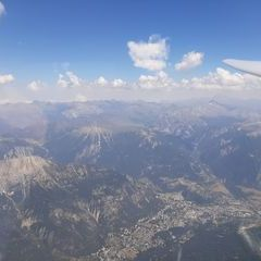 Flugwegposition um 13:23:30: Aufgenommen in der Nähe von Département Hautes-Alpes, Frankreich in 3662 Meter