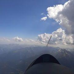 Flugwegposition um 14:42:14: Aufgenommen in der Nähe von Département Hautes-Alpes, Frankreich in 3959 Meter