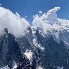 Flugwegposition um 12:41:21: Aufgenommen in der Nähe von Département Haute-Savoie, Frankreich in 3134 Meter