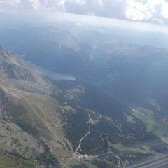 Flugwegposition um 14:36:02: Aufgenommen in der Nähe von Gemeinde Nauders, Österreich in 3454 Meter