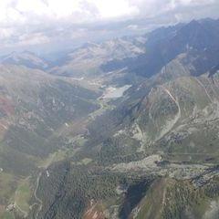 Flugwegposition um 15:05:36: Aufgenommen in der Nähe von Gemeinde Haiming, Österreich in 2643 Meter
