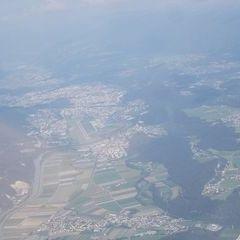 Flugwegposition um 15:15:01: Aufgenommen in der Nähe von Gemeinde Inzing, Österreich in 2471 Meter