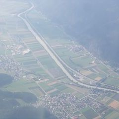 Flugwegposition um 15:15:14: Aufgenommen in der Nähe von Gemeinde Zirl, Zirl, Österreich in 2463 Meter