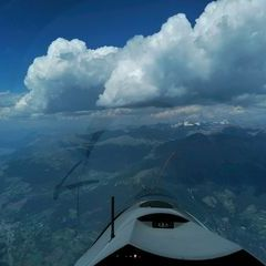 Flugwegposition um 13:37:05: Aufgenommen in der Nähe von 39023 Laas, Südtirol, Italien in 3664 Meter