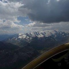 Flugwegposition um 13:10:05: Aufgenommen in der Nähe von Maloja, Schweiz in 3502 Meter