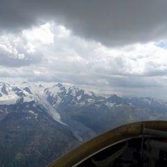 Flugwegposition um 13:11:15: Aufgenommen in der Nähe von Maloja, Schweiz in 3470 Meter