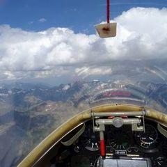 Flugwegposition um 13:58:46: Aufgenommen in der Nähe von Gemeinde Sölden, Österreich in 3939 Meter