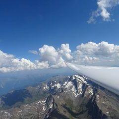 Flugwegposition um 13:58:51: Aufgenommen in der Nähe von Gemeinde Sölden, Österreich in 3934 Meter