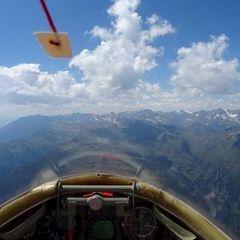 Flugwegposition um 12:14:43: Aufgenommen in der Nähe von 39010 St. Martin in Passeier, Südtirol, Italien in 2896 Meter