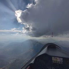 Flugwegposition um 16:13:06: Aufgenommen in der Nähe von Département Hautes-Alpes, Frankreich in 3420 Meter