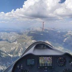 Flugwegposition um 12:36:09: Aufgenommen in der Nähe von Département Alpes-de-Haute-Provence, Frankreich in 3276 Meter