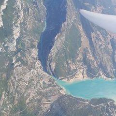 Flugwegposition um 14:47:15: Aufgenommen in der Nähe von Département Alpes-de-Haute-Provence, Frankreich in 3030 Meter