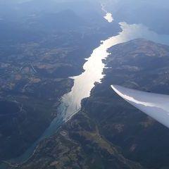 Flugwegposition um 15:50:48: Aufgenommen in der Nähe von Département Alpes-de-Haute-Provence, Frankreich in 3531 Meter