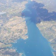 Flugwegposition um 15:59:43: Aufgenommen in der Nähe von Département Hautes-Alpes, Frankreich in 3654 Meter