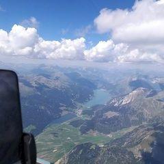 Flugwegposition um 12:07:29: Aufgenommen in der Nähe von 39024 Mals, Südtirol, Italien in 3795 Meter