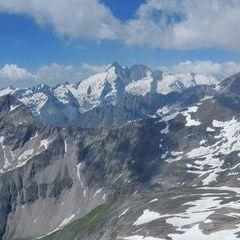 Flugwegposition um 10:11:01: Aufgenommen in der Nähe von Gemeinde Heiligenblut, 9844, Österreich in 2955 Meter
