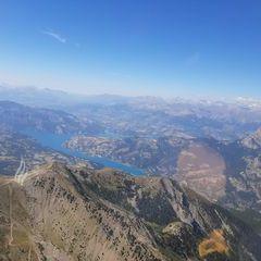 Flugwegposition um 13:42:36: Aufgenommen in der Nähe von Département Alpes-de-Haute-Provence, Frankreich in 2787 Meter