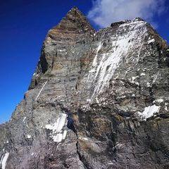 Verortung via Georeferenzierung der Kamera: Aufgenommen in der Nähe von Visp, Schweiz in 3900 Meter