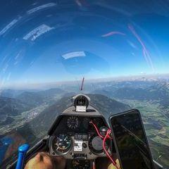 Flugwegposition um 10:00:42: Aufgenommen in der Nähe von Rottenmann, Österreich in 2437 Meter