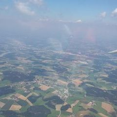Flugwegposition um 11:03:20: Aufgenommen in der Nähe von Gemeinde Schardenberg, Österreich in 1833 Meter