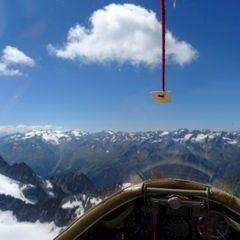 Flugwegposition um 11:58:04: Aufgenommen in der Nähe von Gemeinde Längenfeld, Österreich in 3218 Meter