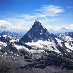 Verortung via Georeferenzierung der Kamera: Aufgenommen in der Nähe von Visp, Schweiz in 4200 Meter