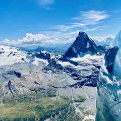 Verortung via Georeferenzierung der Kamera: Aufgenommen in der Nähe von Visp, Schweiz in 4100 Meter