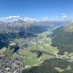 Verortung via Georeferenzierung der Kamera: Aufgenommen in der Nähe von Albula, Schweiz in 3600 Meter