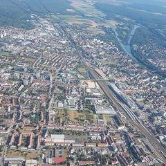 Flugwegposition um 15:10:30: Aufgenommen in der Nähe von Oberfranken, Deutschland in 772 Meter