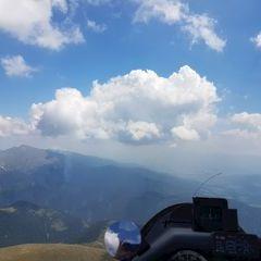 Flugwegposition um 10:55:31: Aufgenommen in der Nähe von Gemeinde Gaal, Österreich in 2417 Meter