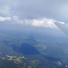 Flugwegposition um 11:49:25: Aufgenommen in der Nähe von Regen, Deutschland in 2543 Meter