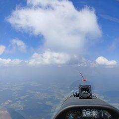 Flugwegposition um 11:19:02: Aufgenommen in der Nähe von Freyung-Grafenau, Deutschland in 2480 Meter