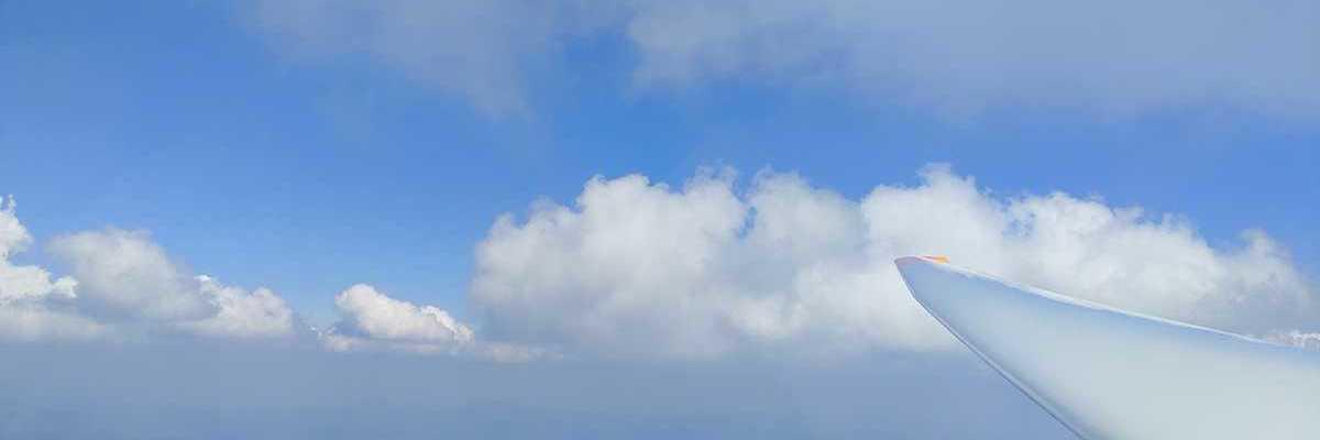 Flugwegposition um 11:18:54: Aufgenommen in der Nähe von Freyung-Grafenau, Deutschland in 2481 Meter