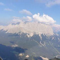 Flugwegposition um 16:05:05: Aufgenommen in der Nähe von Gemeinde Lermoos, 6631 Lermoos, Österreich in 2128 Meter