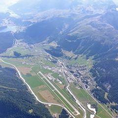 Flugwegposition um 14:35:33: Aufgenommen in der Nähe von Maloja, Schweiz in 3668 Meter